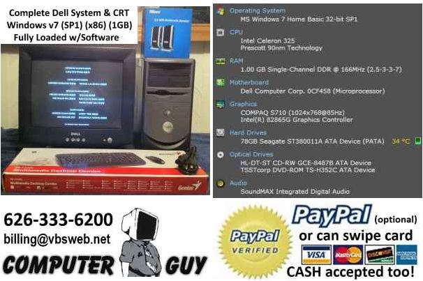 Dell Desktop System | Rebuilt and for Sale